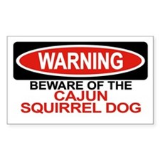 CAJUN SQUIRREL DOG Rectangle Decal