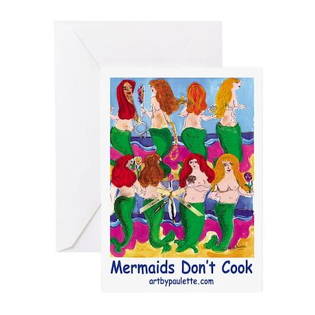 Cooking Mermaids Greeting Cards (Pk of 10)