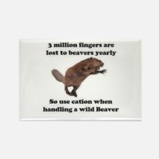 beaver humor gifts Rectangle Magnet