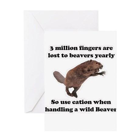 beaver humor gifts Greeting Card