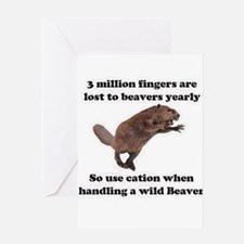 beaver humor gifts Greeting Card