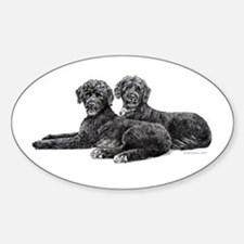 Portuguese Water Dogs Oval Decal