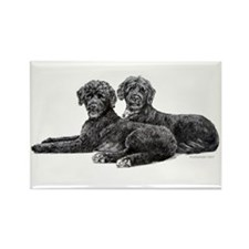 Portuguese Water Dogs Rectangle Magnet (10 pack)