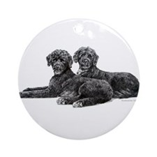 Portuguese Water Dogs Ornament (Round)