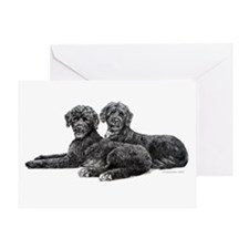 Portuguese Water Dogs Greeting Card