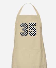 Checkered Number 35 BBQ Apron