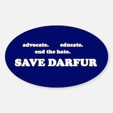 Save Darfur Oval Decal