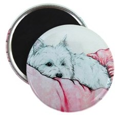 Napping Westie Magnet