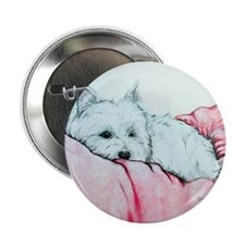 "Napping Westie 2.25"" Button"
