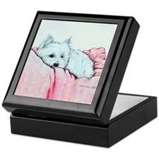 Napping Westie Keepsake Box