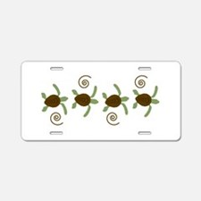 Sea Turtle Border Aluminum License Plate