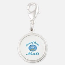 Coat of Arms Mali Silver Round Charm
