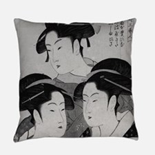 Vintage Japanese Women Everyday Pillow