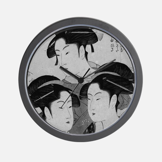 Vintage Japanese Women Wall Clock