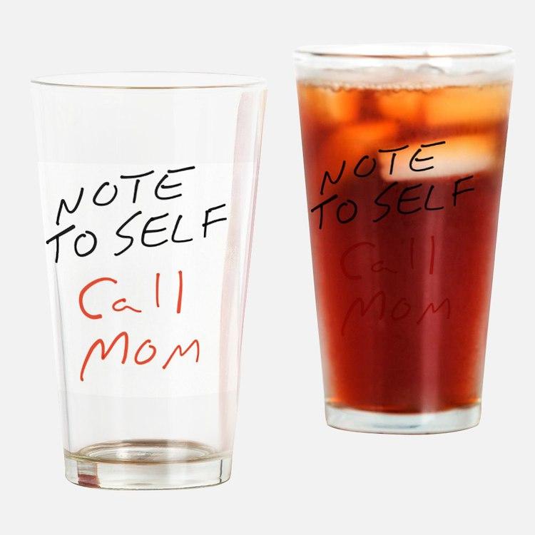 Cute Call mom Drinking Glass