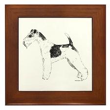 Wire Fox Terrier Framed Tile