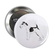 "Wire Fox Terrier 2.25"" Button"