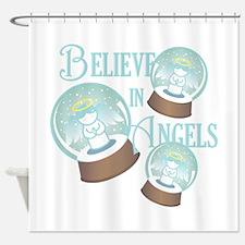 Believe In Angels Shower Curtain