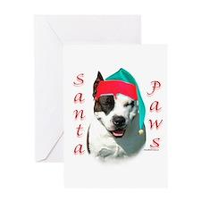 Am Staff Paws Greeting Card