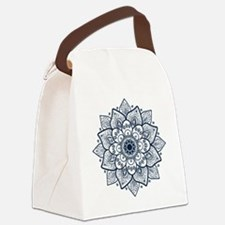 Funny Blue Canvas Lunch Bag