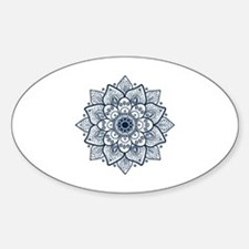 Unique Blue Sticker (Oval)