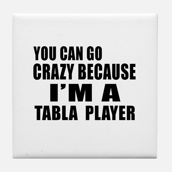 I Am Tabla Player Tile Coaster