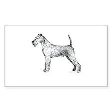 Irish Terrier Rectangle Decal