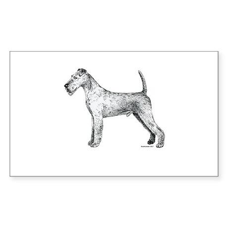 Irish Terrier Rectangle Sticker
