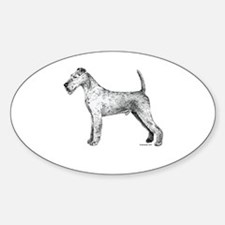 Irish Terrier Oval Decal