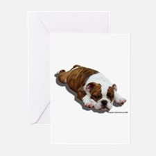 Bulldog Puppy 2 Greeting Cards