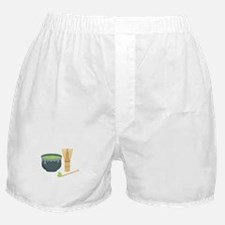 Matcha Green Tea Set Boxer Shorts