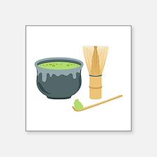 Matcha Green Tea Set Sticker