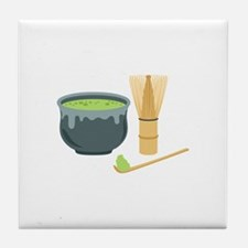 Matcha Green Tea Set Tile Coaster