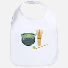 Matcha Green Tea Set Bib