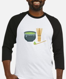 Matcha Green Tea Set Baseball Jersey