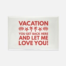 Vacation Rectangle Magnet