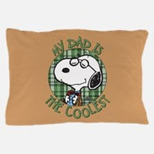 Snoopy - My Dad is the Coolest Full Bl Pillow Case