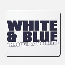 WHITE AND BLUE Mousepad