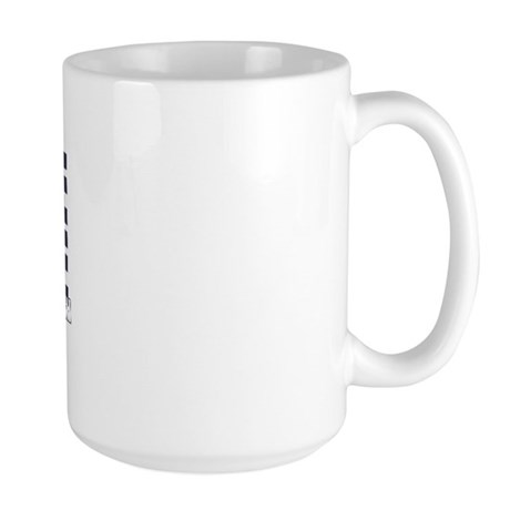 WHITE AND BLUE Large Mug