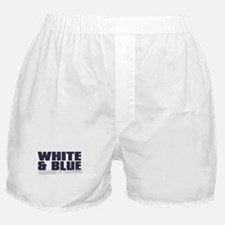 WHITE AND BLUE Boxer Shorts