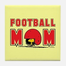 Woodstock Football Mom Full Bleed Tile Coaster
