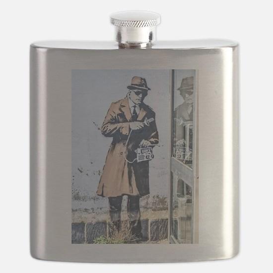 BANKSY SPY BOOTH CHELTENHAM Flask
