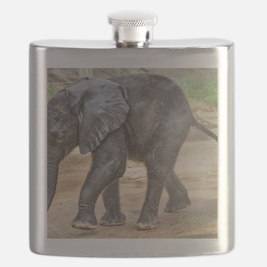 BABY ELEPHANT BATH TIME Flask
