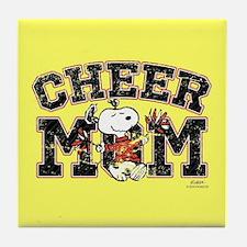 Snoopy - Cheer Mom Full Bleed Tile Coaster