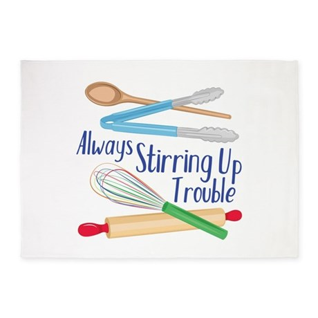 Stirring Up Trouble 5 X7 Area Rug By Windmill61