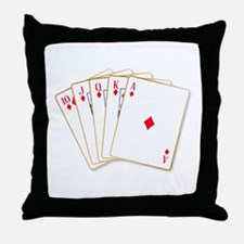 Ace Diamonds Flush Throw Pillow