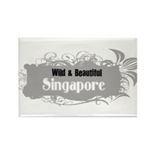 Wild & Beauitful Singapore Rectangle Magnet