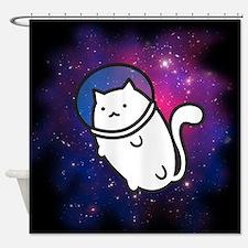 Fat Cat in Space Shower Curtain