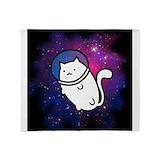 Fat cat Fleece Blankets