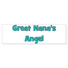 Great Nana's Angel. Bumper Sticker